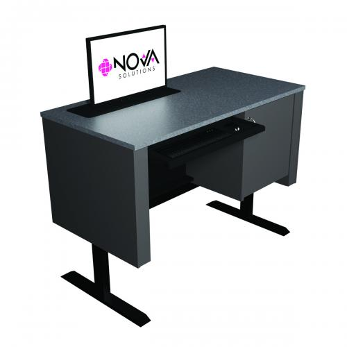 Sit-Stand Lectern with Trolley™ Monitor Lift