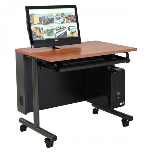 Computer Training Table with Surface Mount Arm