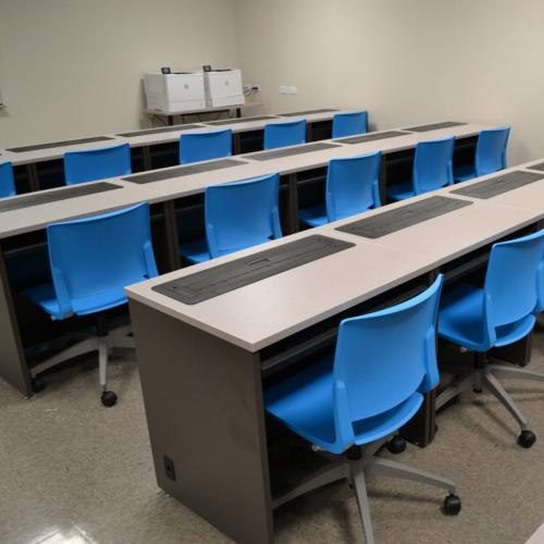 Borough of Manhattan Community College computer desks