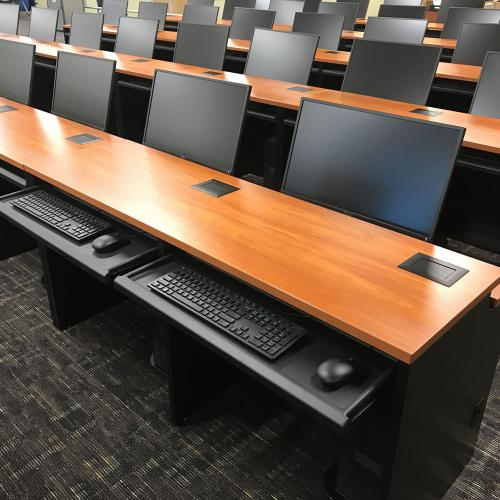 University of Texas Dallas computer desks
