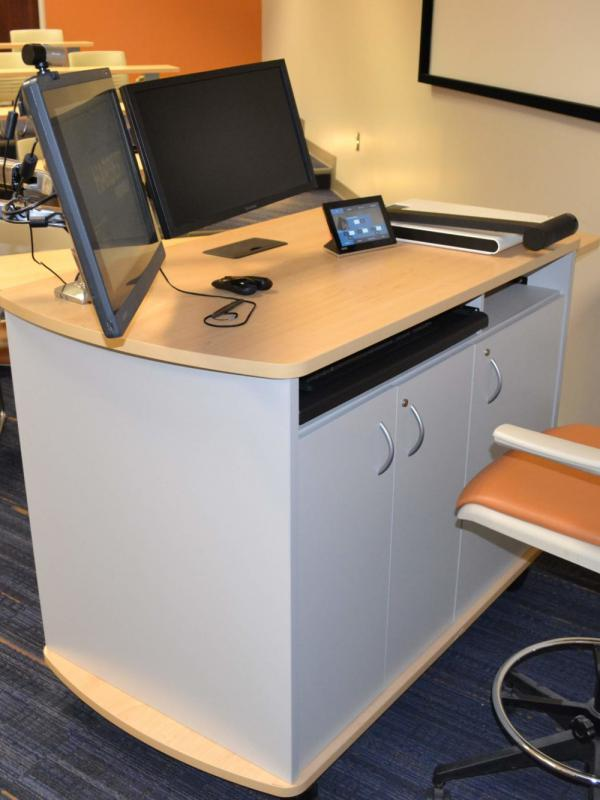 Computer desk installed at Auburn University