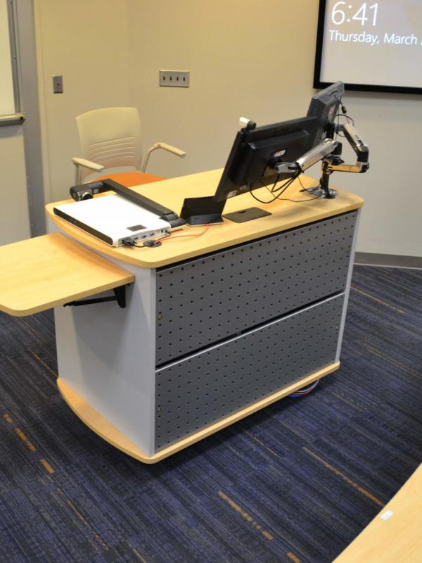 Computer lectern installation