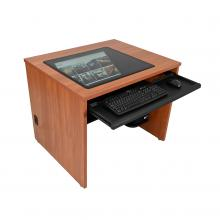 Single Computer Training Desk with Downview™