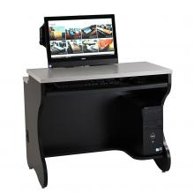 Split-Top Computer Training Desk with 6 Inch Rear Shelf