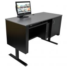 Sit-Stand Lectern with Locking CPU Storage