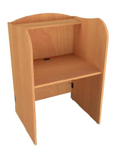 "53"" H Single Study Carrel"