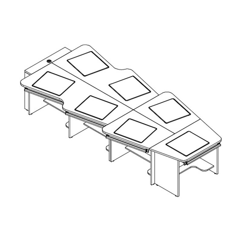 8 Person Keystone Collaboration Table with Downview™