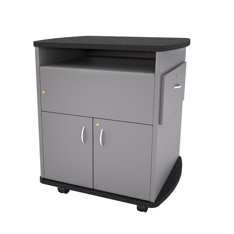Curved Top Lectern with Pull-out Shelf