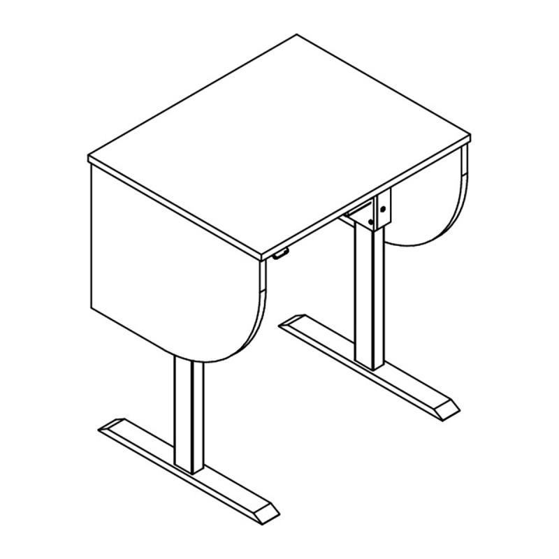 Adjustable Height Podium in the raised position