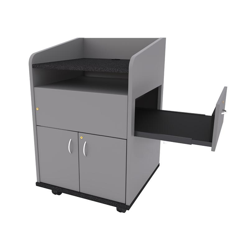 Privacy Side Lectern with Pull-out Shelf