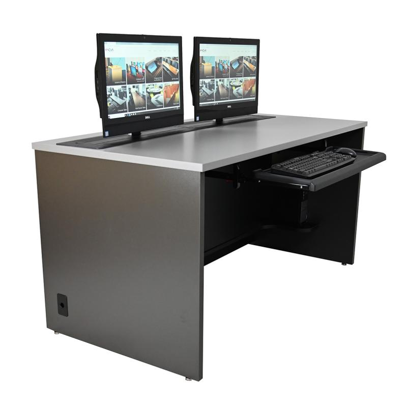 Single Computer Desk with Dual Trolley™ EXL