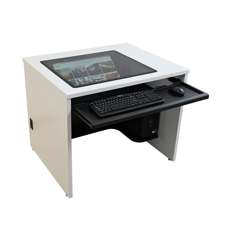 "Single Computer Training Desk with 21"" x 24"" Downview™"