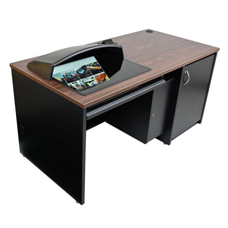 Seated Height Lectern with Locking CPU Storage and Downview™