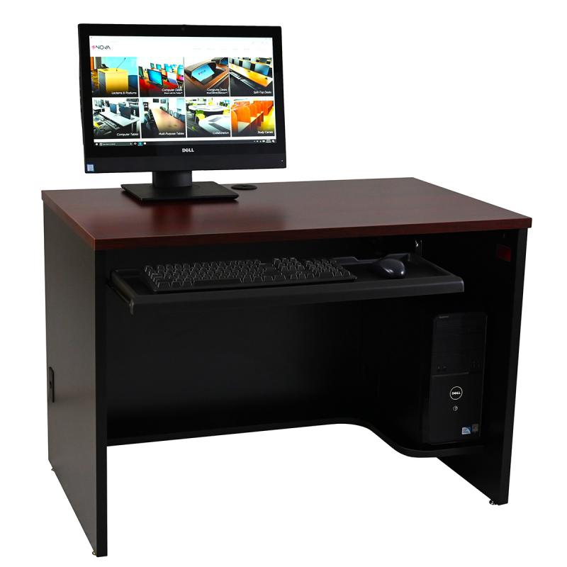Single Computer Training Desk with NOVA Keyboard Drawer