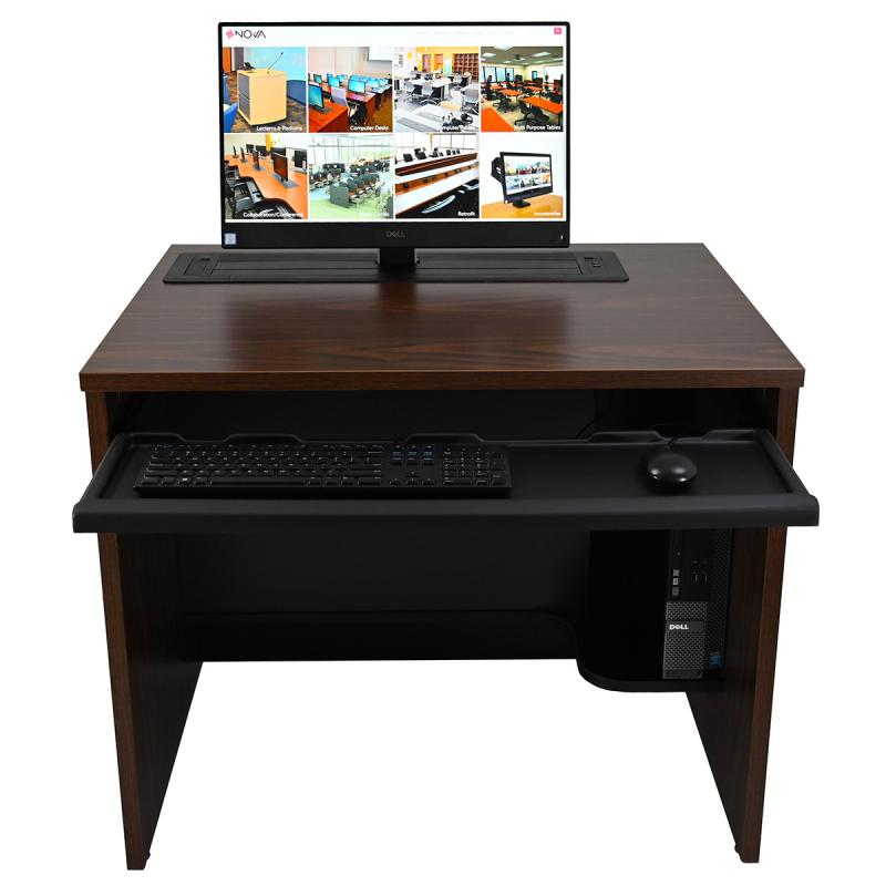Single Computer Desk with Trolley™ Monitor Lift
