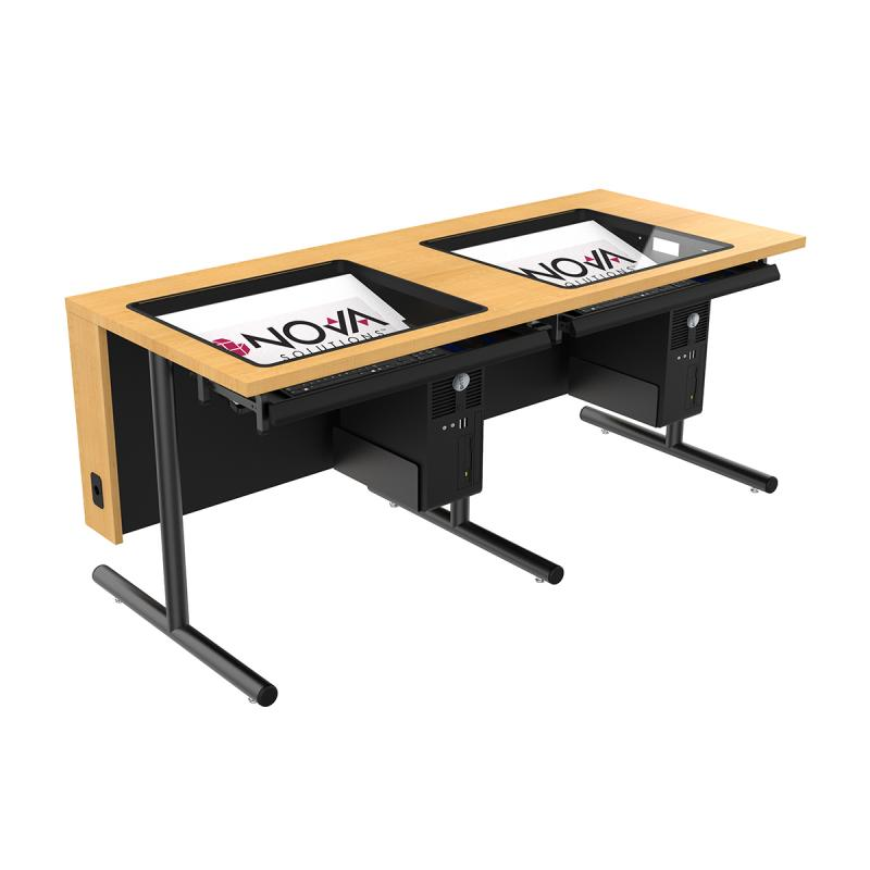 Double Computer Training Table with Downview™