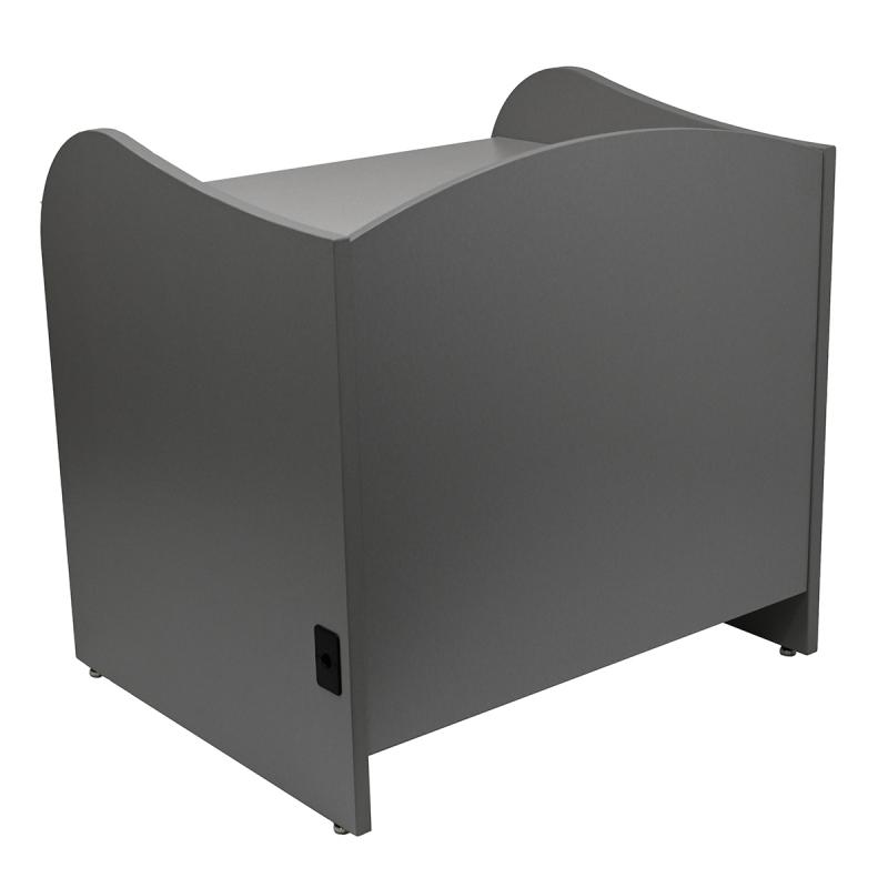 "35"" High Study Carrel with Pop Up Power Center"