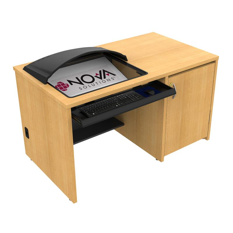 Seated Height Lectern with Downview™ and Optional Privacy/Glare Visor