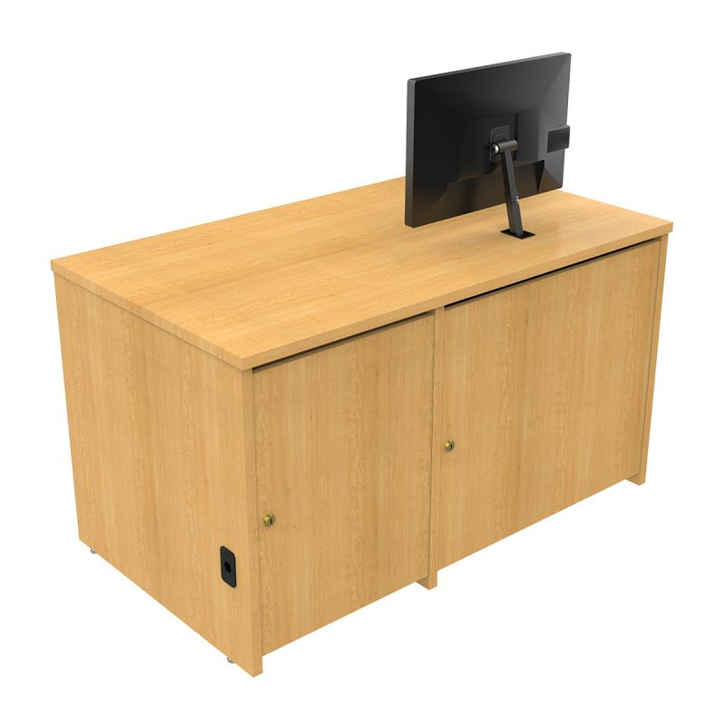 Seated Height Lectern with Surface Mount Arm