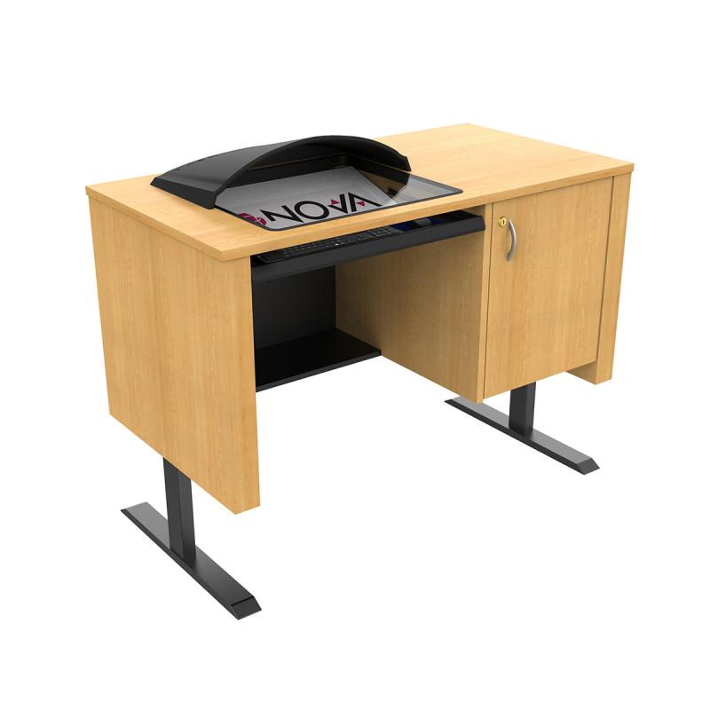 Sit-Stand Lectern with Downview™ - Standing Position with Visor