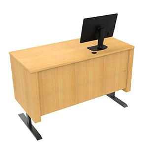 Sit-Stand Pedestal Desk with Locking CPU Storage