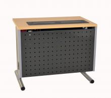 Computer Table with Perforated Metal iMod™ Modesty Panel
