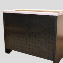 Computer Desk iMod™ Compartment-Perforated Metal Modesty Panel