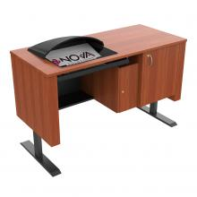 Sit-Stand Lectern with Locking CPU Storage - Downview™