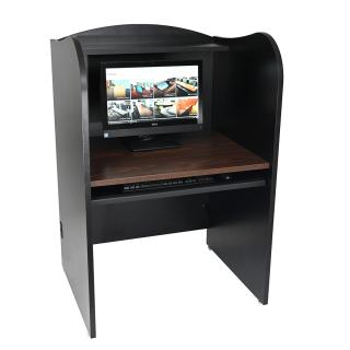 "53"" High Study Carrel with NOVA Keyboard Drawer"