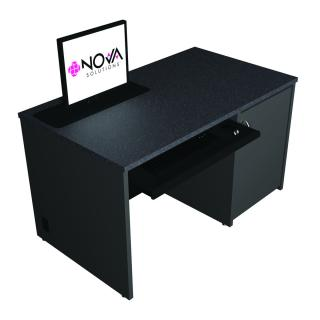 Seated Height Lectern with Trolley™ Monitor Lift